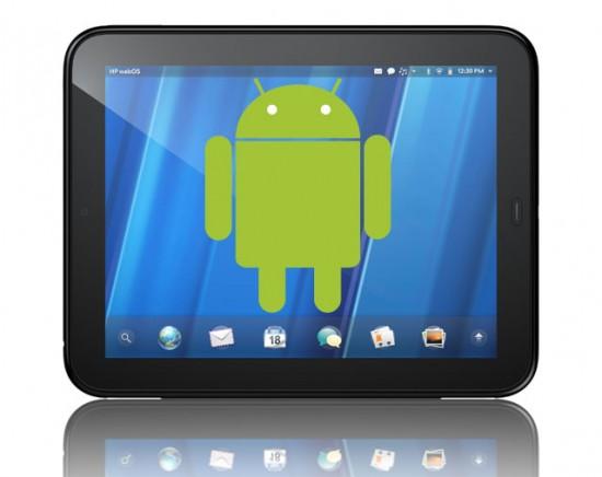 تابلت HP TouchPad بسعر 195 دولار HPTouchPadAndroid-550x436